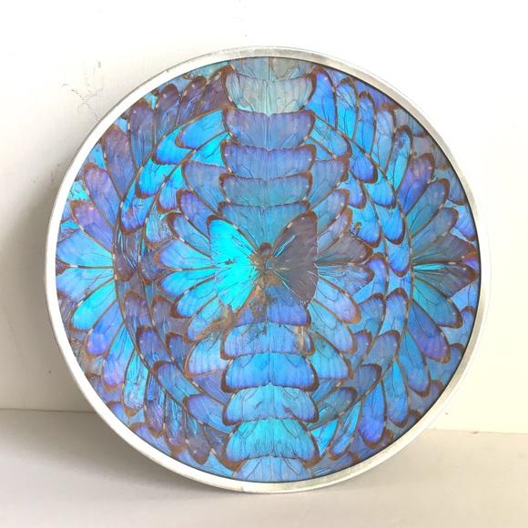 GYMBOREE BUTTERFLY BATIK BLUE BUTTERFLY ESPADRILLE WEDGE SANDALS 10 NWT